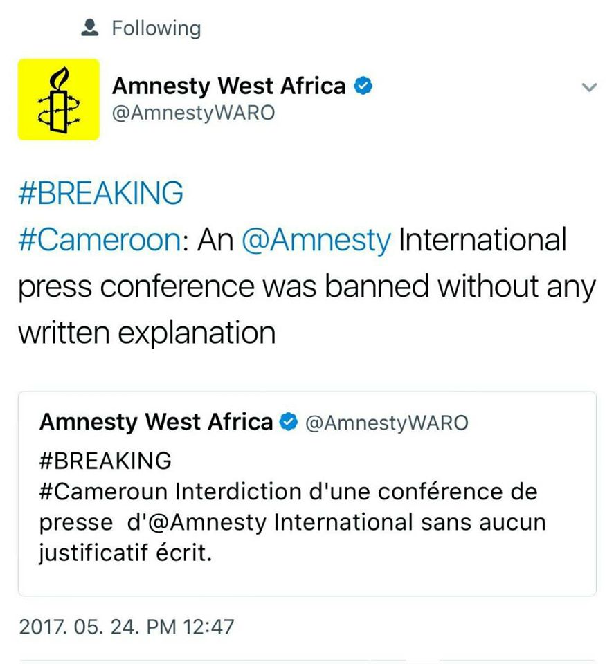 Photo of Amnesty International Dribbles Gov't,Holds Press Conference After Ban