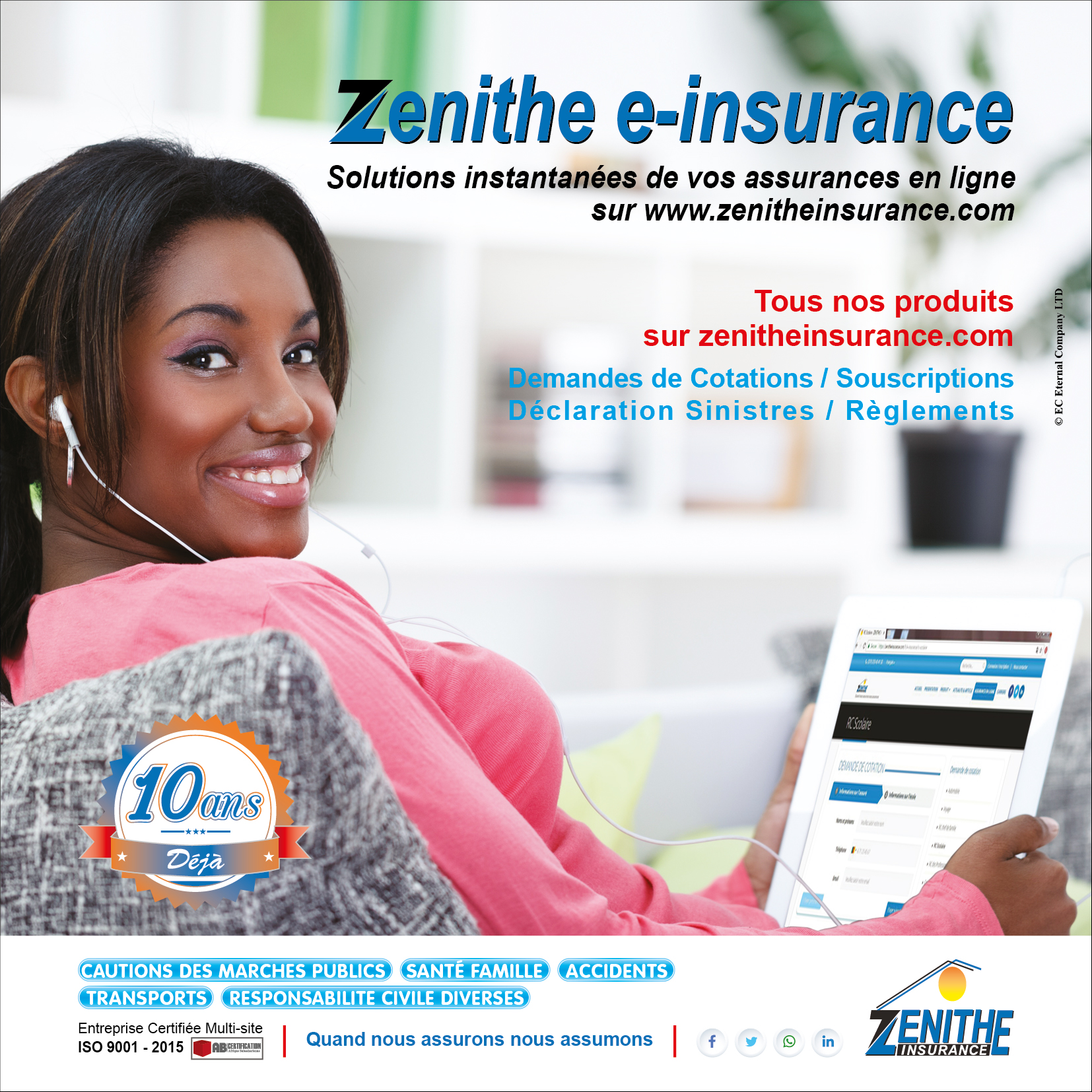Photo of Cameroon-Technology : Online Subscription-ZENITHE Insurance Goes Digital