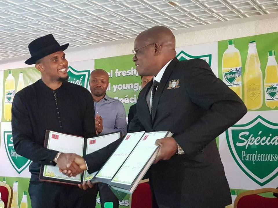 Photo of Samuel Eto'o Becomes Ambassador Of Special UCB Pamplemousse