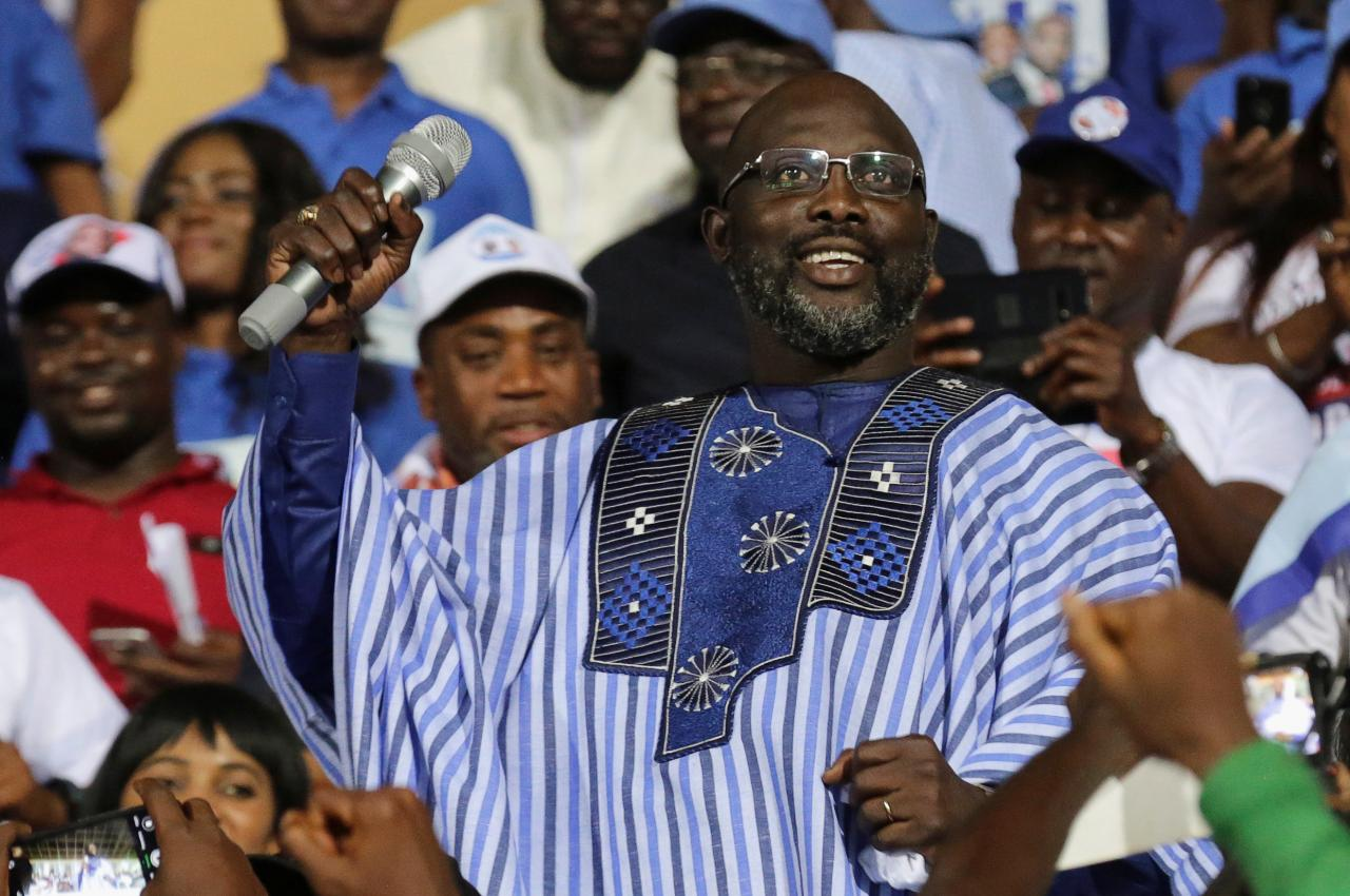 Photo of George Weah, From Footballer To President