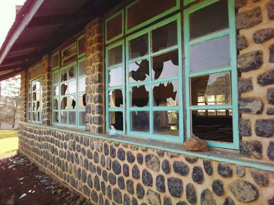 Photo of In Pictures : JMBC Ndu Attacked , Windows Shattered