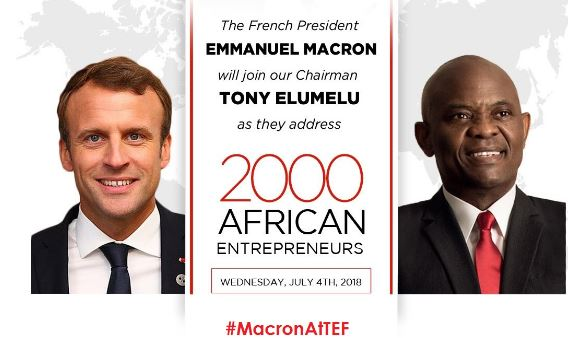 Photo of French President,Tony Elumelu To Discuss Entrepreneurship This Wednesday With 2000 TEF Alumni
