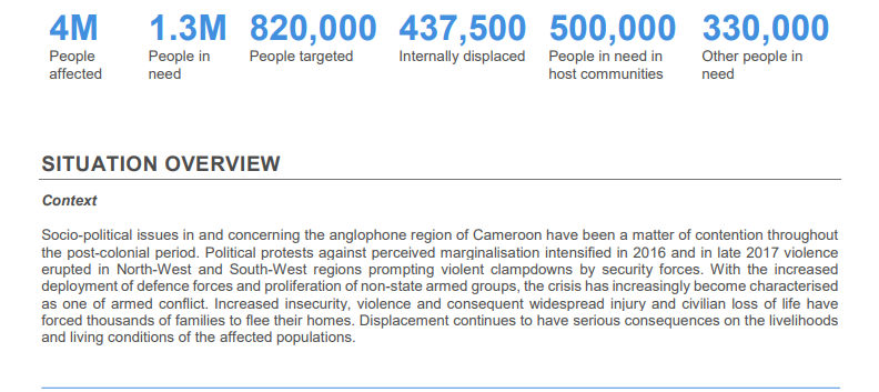 Photo of North West/South West: Humanitarian Situation Is Deteriorating- OCHA
