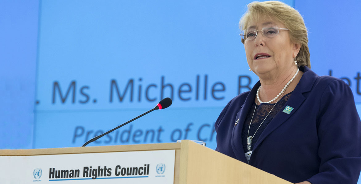 Photo of Opening Statement by UN High Commissioner for Human Rights Michelle Bachelet at the 40th session of the Human Rights Council