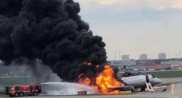 Photo of RUSSIA: Over 40 Dead As Russian Plane Catches Fire