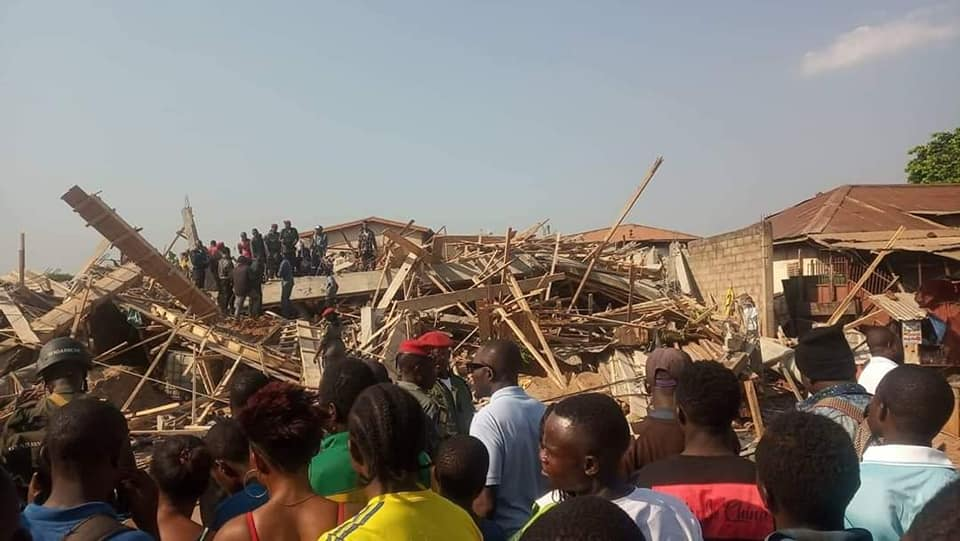 Photo of Collapsed Building Kills 4, Injures 12 In Yaounde