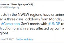 Photo of Separatists Declare Three Days Lockdown
